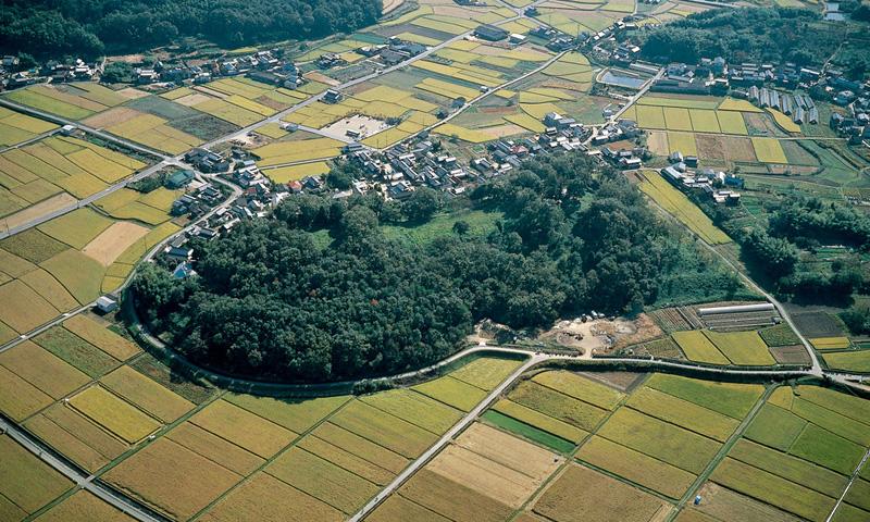 全国第4位の墳丘規模をもつ巨大古墳。