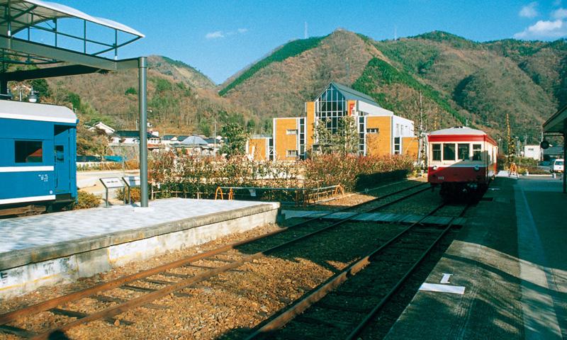 020 旧片上鉄道吉ケ原駅と湯郷温泉