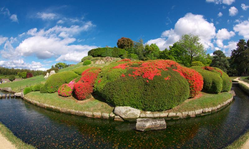 059 日本三名園の一つ岡山後楽園、岡山城と日帰り温泉