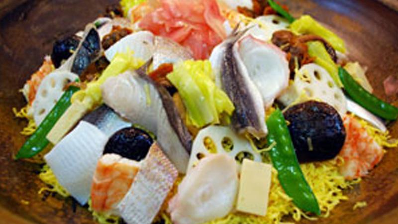 黄ニラばら寿司
