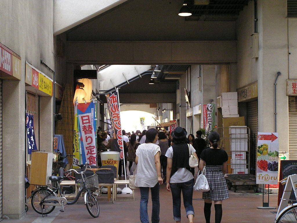 ふくふく通り(岡山市中央卸売市場)